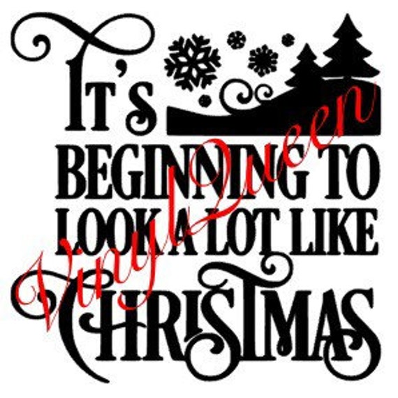 Its Beginning To Look Alot Like Christmas.Its Beginning To Look Alot Like Christmas Vinyl Decal Quote Shadow Box Light Block Festive Santa Family Magical