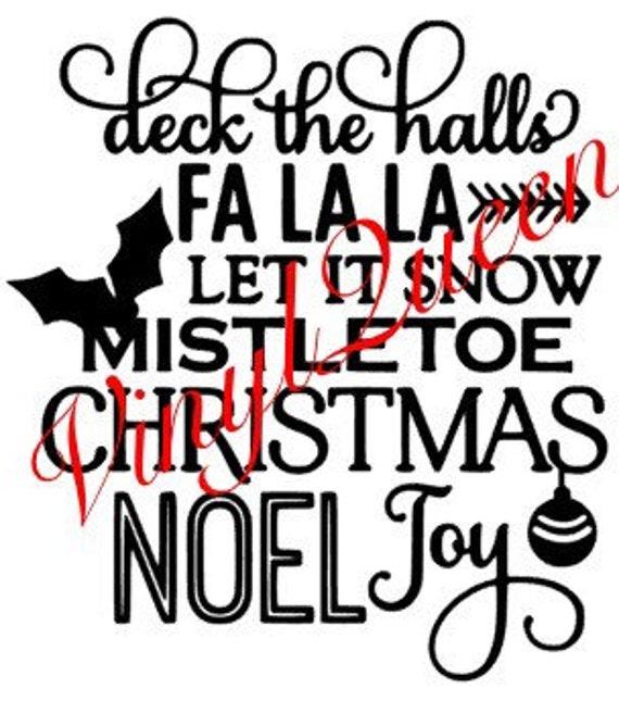 Christmas Time Vinyl Sticker for Box Frame Christmas Decor Mistletoe /& Wine