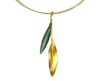 Olive Leaf Pendant 'Elia' by Ilios, Olive Leaf Necklace, Olive Leaf Jewelry, Olive Branch, Greek Jewelry, Greek Wedding, Wedding Jewelry