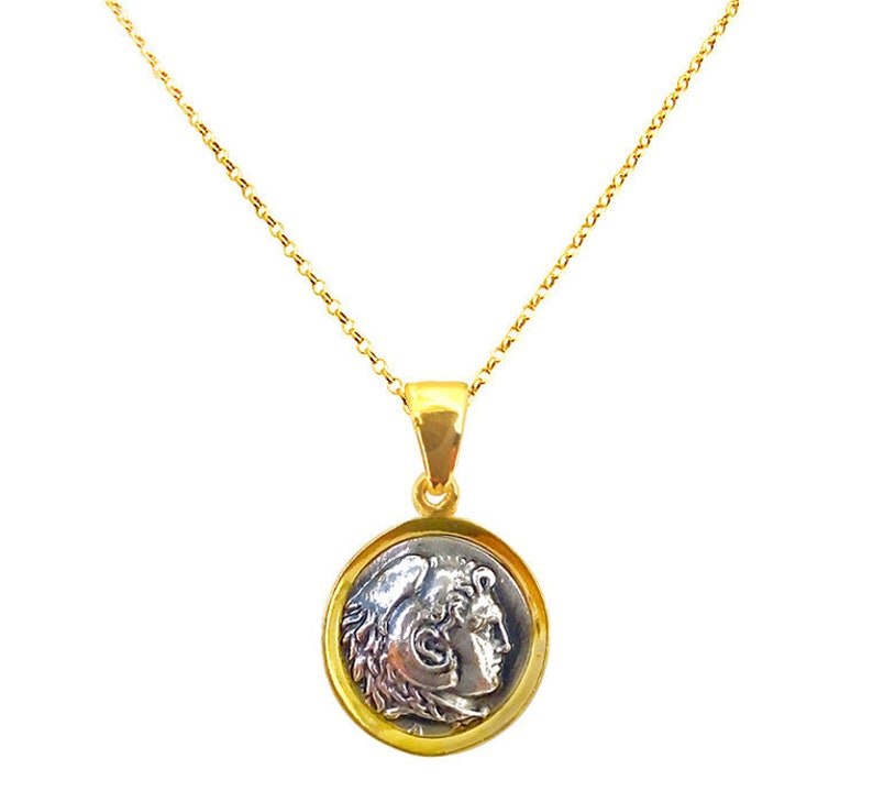 Ancient Greek Coin Pendant with Alexander the Great, Greek Coin Pendant,  Alexander the Great, Greek Jewelry, Greek Necklace, Ancient Greece