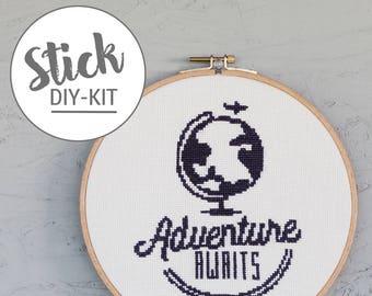 Adventure awaits! Cross Stitch DIY Kit