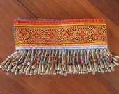 VINTAGE Hmong Textile - Embroidery Hmong Tapestry - Cross Stitches - Bead Tassels - DIY Project - Hand Craft