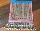 VINTAGE Embroidery Hmong Tapestry - Ethnic Hilltribe - DIY Project - Wall Hanging - Craft Supplies