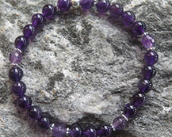 Amethyste Bracelet with facetted Amethyste and 925 Silver