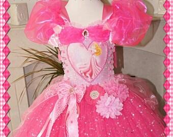 Handmade Girls Disney Princess Aurora Sleeping Beauty Tutu Dress