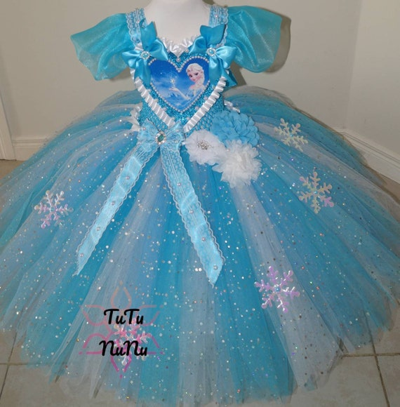Handmade Girls Baby Shark First Birthday Pageant Ball Gown Glitter Sparkle Party Tulle Tutu Dress