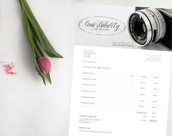 Hübsches Blumenmuster Rechnung Editierbare Word Dokument Etsy