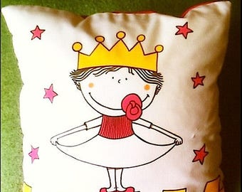 "Cushion ""Princess and Castle"""