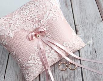 dusty pink wedding ring bearer pillow, dusty rose ring bearer, dusty pink ring pillow, ring pillow, dusty pink pillow for wedding rings