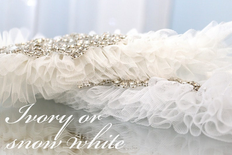 white plus size garter white wedding garter white bling garter white tulle garter white garter crystal garter gatsby style garter