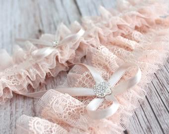 garter set, peach lace wedding garter set, wedding garter set, peach garter set, wedding garters, garters for wedding, garters for bride