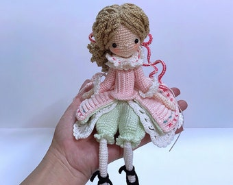 Crochet Pattern for Doll DAWN, pdf (Deutsch, English, Français ... | 270x340
