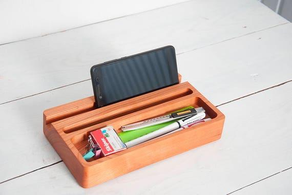 Organisateur de bureau bois cerise mini étagère bureau etsy