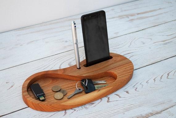 Houten Bureau Kantoor : Kersen houten bureau organizer gepersonaliseerde kantoor & etsy