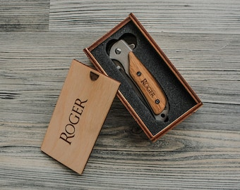 Engraved Pocket Knife Groomsmen Gift Custom Knives With Box Etsy