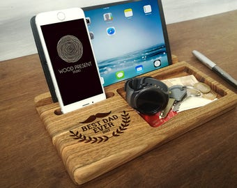 fathers day gift dad gifts from son fathers day gift from daughter best dad ever gifts christmas gift for dad wood docking station
