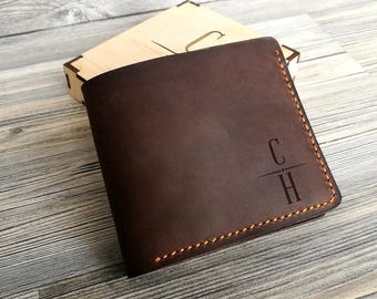 55e755673b1e Personalized Mens Wallet Mens Leather Wallet Father s Day Gift Christmas  Gift for Dad Groomsmen Gift Mens Wallet Personalized Gift for Men