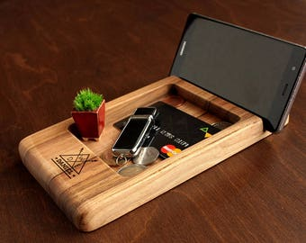 Wood Docking Station Fathers Day Gift Ideas Unique For Husband Anniversary Gifts Men Who Have Everything