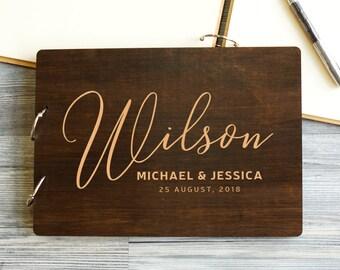Personalized Wedding Guest Book Custom Wedding Guest Book Rustic Wedding Guestbook Wooden Wedding Book Handmade Alternate Wedding Guest Book