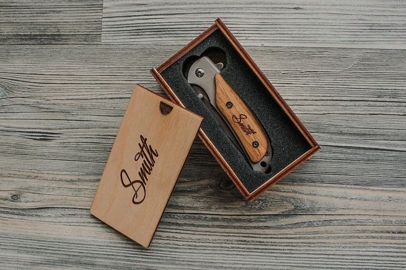 Engraved Pocket Knife Groomsmen Gift Custom Knives With Box