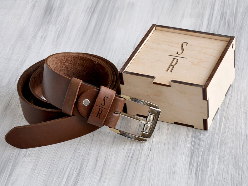 243fb4c8dfc7 Personalized Leather Belt 3rd Anniversary Gifts for Men Custom