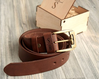 Anniversary Gifts for Men Custom Gift for Him Fathers Day Gift for Dad from Son Birthday Gift from Daughter Mens Personalized Leather Belt