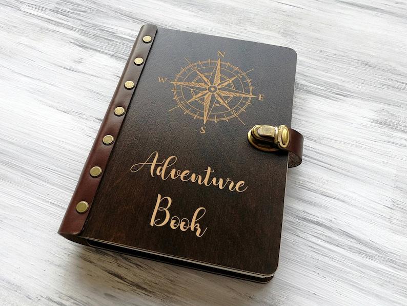 Adventure Book Compass Rose Personalised Travel Notebook Palisander