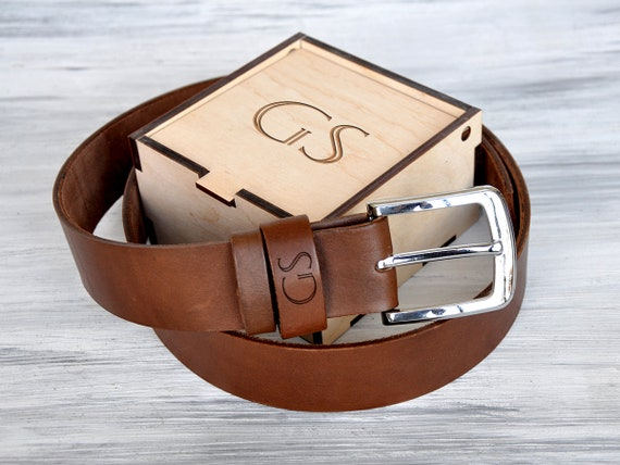 Anniversary Gifts For Boyfriend Personalized Leather Belt Etsy