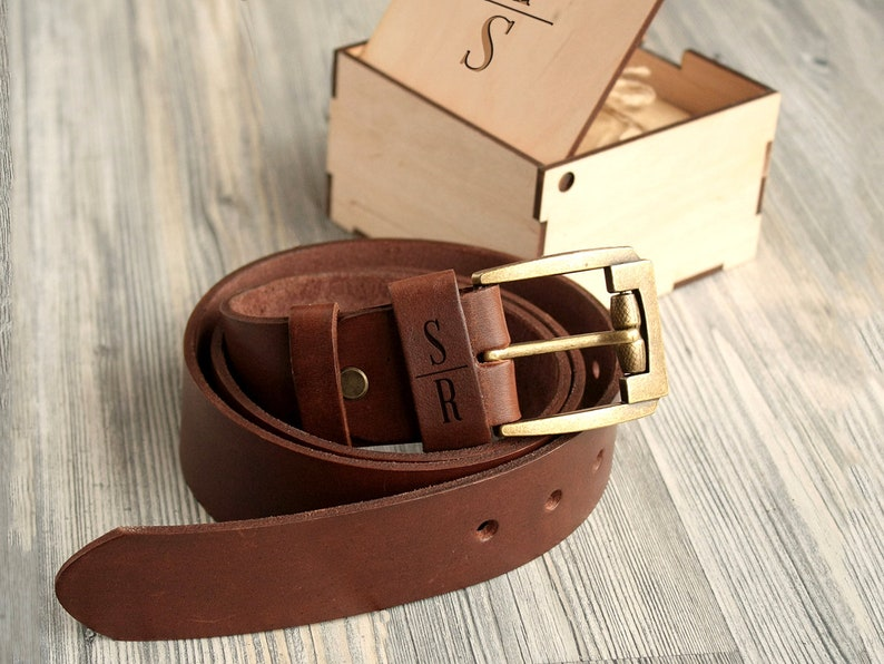 e8fb86b7a80b6 Personalized Leather Belt 3rd Anniversary Gifts for Men Custom