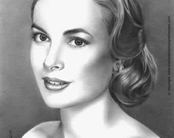 "Custom Hand Drawn Portrait, 8"" x 10"", Illustration, Personalized Gift, Anniversary, Birthday, Graduation, Wedding, Engagement, Valentine Day"
