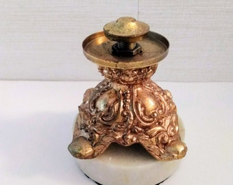 eca994d964a1 Metal Eggury Base or Lamp Base Brass Marble 3.5 inches tall and 3 inches  wide