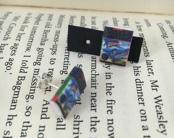 Harry Potter Book stud earrings