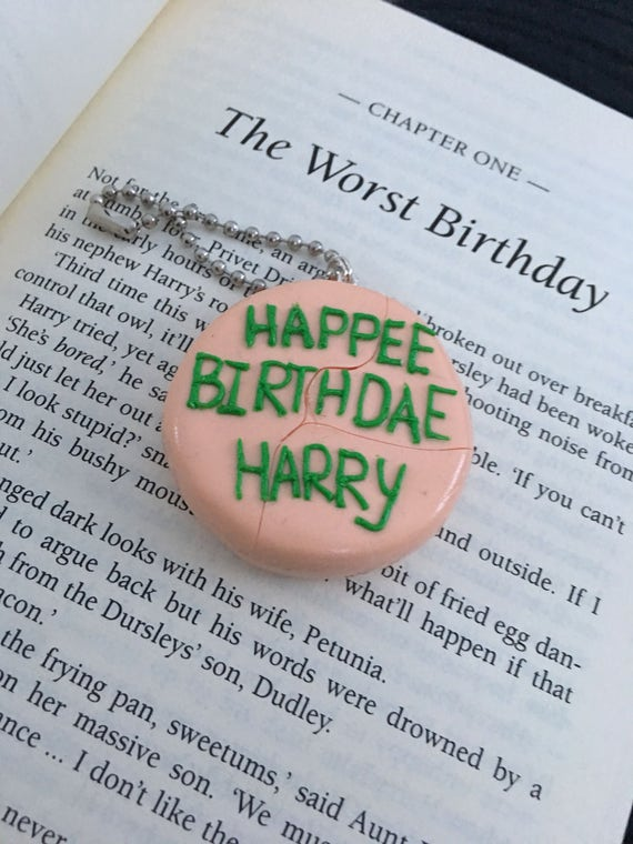 Amazing Harry Potters Birthday Cake From Hagrid Keyring Magnet Etsy Funny Birthday Cards Online Alyptdamsfinfo