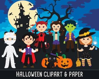 Halloween Clip art, Halloween sticker, Nightmare clip art, Cute Hallowen Character, digital clipart,, Instant Download PNG