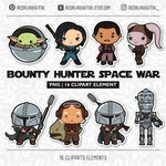 Space wars Clip art set 5, space party, space clipart, space character cartoon, Space Wars sticker, - Free commercial use