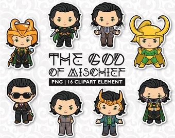 the god of mischief, norse god, super hero clipart, asgardians, cute clipart, tv series clipart, party clipart, birthday clipart