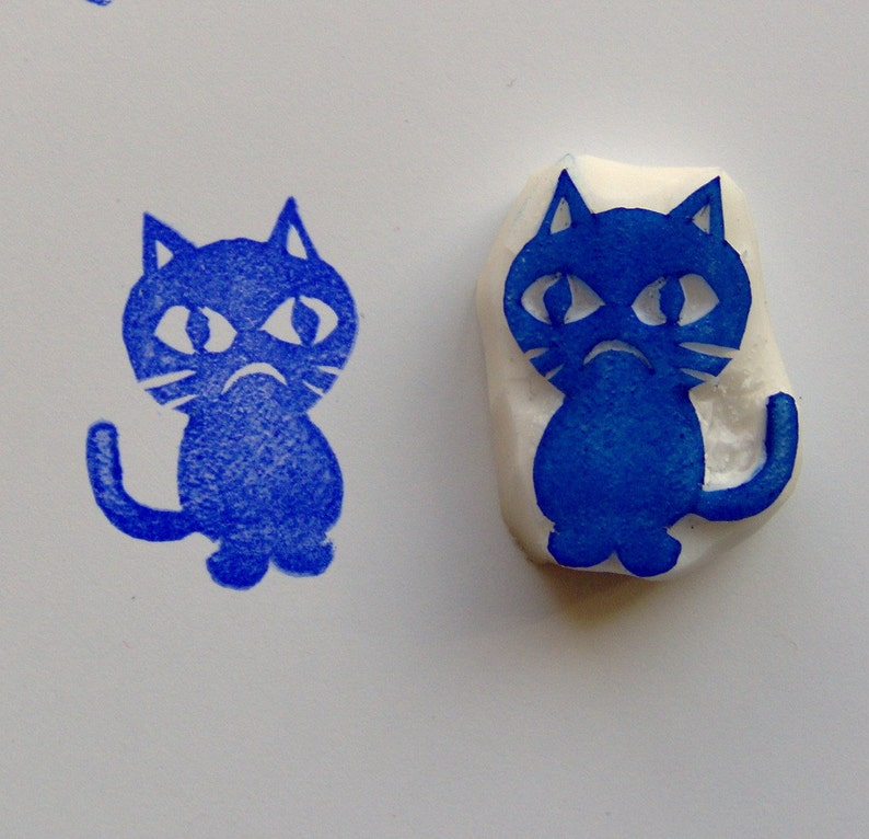 craft supplies Grumpy cat rubber stamp scrapbooking wrapping stamping cardmaking cats kitty stamp cat stamp diy animal stamps art