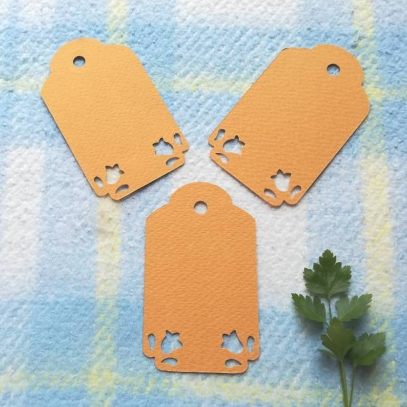 party tags orange tags wedding tags blank tags orange gift tags handmade tags 50 Wedding favor tags price tags favor orange tags