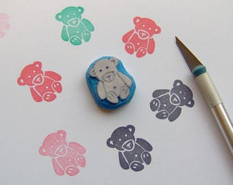 Teddy bear rubber Stamp, woodland stamp, animal Stamp, kids stamp, children stamp, toy stamp, bear stamp, Scrapbooking, cardmaking, crafts