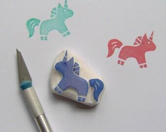 Baby unicorn rubber stamp, unicorn stamp, horse stamp, animal stamp, fairytale birthday, baby shower gift wraps, scrapbooking, cardmaking