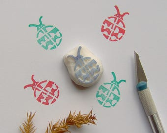 Ladybug rubber stamp, ladybug stamp, cute ladybug stamp, ladybird stamp, insect stamp, luck ladybird, scrapbooking, cardmaking, wrapping