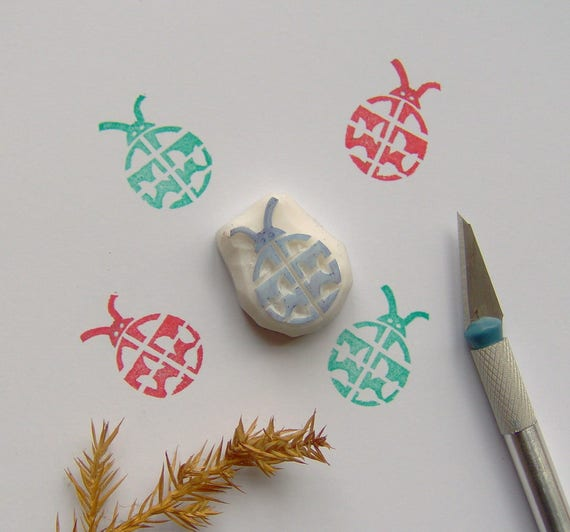 Ladybug Rubber Stamp Cute