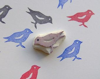 Sparrow Stamp, bird rubber stamp, sparrow rubber stamp, sparrow, card making stamp, stamping, cute stamp, birds stamp, birds, summer, spring