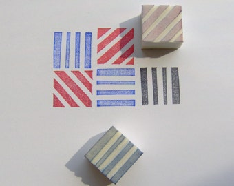 Square stamp, set of 2, square rubber stamp, geometric stamp, rubber stamp, rubber stamp set, geometric rubber stamp, square, card making