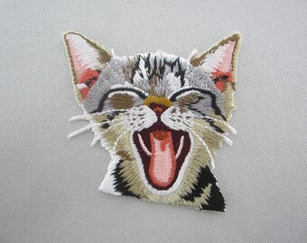 Iron On Patches, Embroidered Cat Appliques