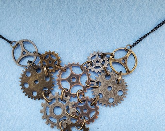 steampunk, pendant, watch parts, woman owned, one of a kind, handmade
