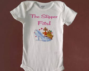 The SLIPPER FITS, Cute Bodysuit or Toddler Tee, Baby Shower, Birthday, Gift, Beachy Baby Shop, Custom Made to Order