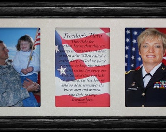 7x15 Freedom/'s HeroThe Great Men Of War Poetry /& Photo 2-Opening Keepsake Gift Frame Honoring Our Brave Men and Women ~ MILITARY FRAME