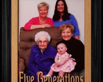 3 Generations Frame Etsy