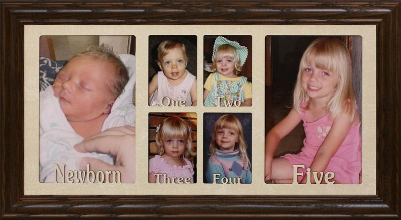 0d69b35356a BABY S FIRST FIVE Years Picture Collage Frame 6 Openings
